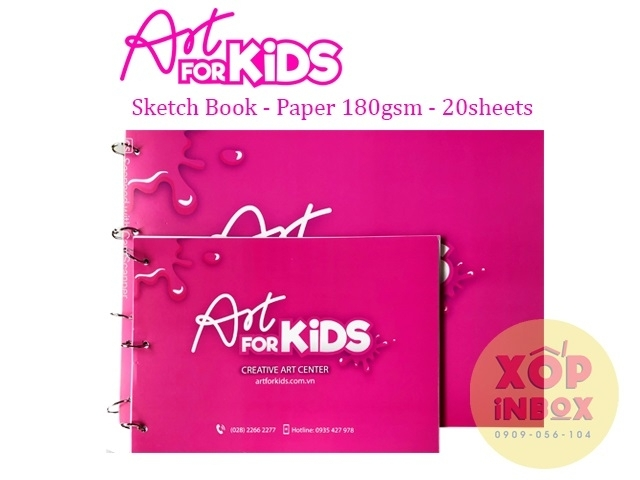 Tập vẽ Roki Artforkids Sketchbook 180gsm A4