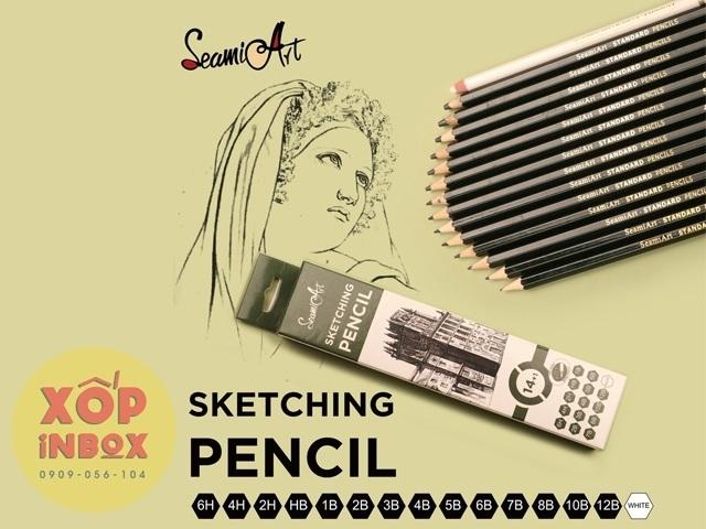 Bộ bút chì phát thảo cao cấp Seamiart 15pcs