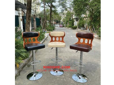 Ghế quầy bar mặt nệm lưng gỗ sang trọng TRTH-WC243