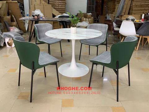 Bộ bàn tròn cafe 4 ghế sang trọng MD- B15K