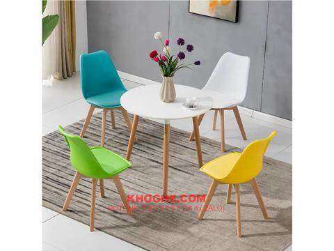 Bộ bàn tròn cafe 4 ghế nhập khẩu hiện đại DP-B2