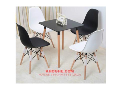 Bộ bàn vuông cafe 4 ghế nhập khẩu hiện đại DP-B5