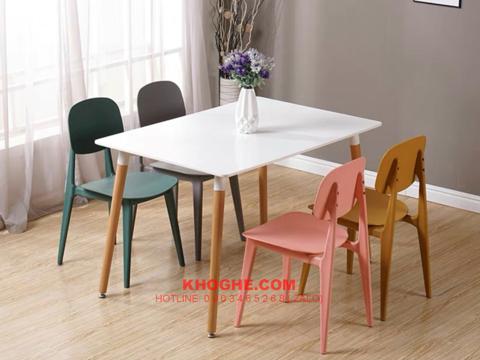 Bộ bàn cafe 4 ghế nhập khẩu hiện đại DP-B4-TRTH-BUNNY