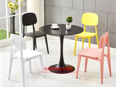 Bộ bàn tulip 4 ghế cafe hiện đại MD-B15